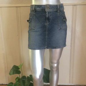 lei Denim Cargo Skirt